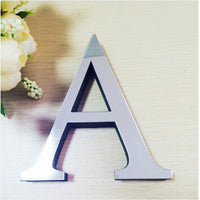 Mirror 3D Reflective Letter Wall Sticker Decals