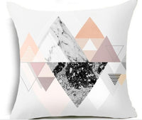 18x18 Geometric Nordic Cushion Cover Tropic Pineapple Throw Pillow Cover Polyester Cushion Case Sofa Bed Decorative Pillow