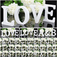 White Wooden 3D Letters