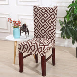 Spandex Chair Protector Modern Silky Seat Case Removable Decorative Elastic Polyester Chair Covers