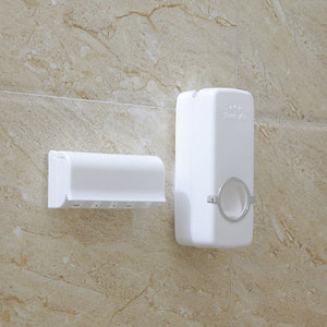 Bathroom Accessories Set - Toothbrush Holder, Toothpaste Dispenser