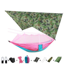 Load image into Gallery viewer, Portable Camping Hammock with Mosquito Net and Rain Tarp