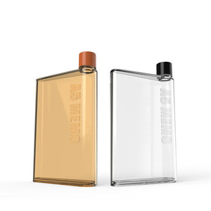 Flat Water Bottle - Portable Clear Notebook Bottle