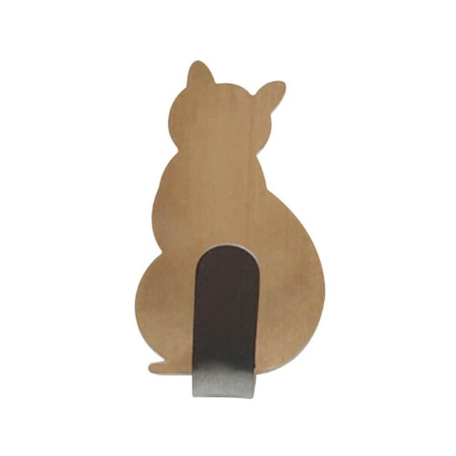 Cat-shaped Wall Mount Key Holder