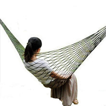 Load image into Gallery viewer, Lifestyle - Mesh Hammock Bold Mesh Camping