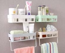 Load image into Gallery viewer, Kitchen Bathroom Shelf with Towel Rack