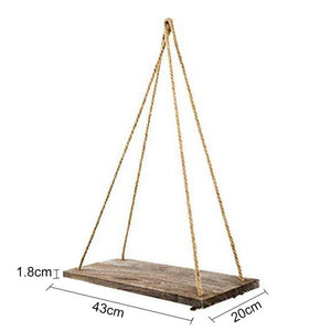 Wall Shelf - Hanging Wooden Plant Shelf