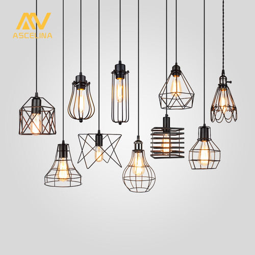 Lampshade - Pendant Light Lamp Metal Cage