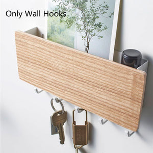 Wall Hook Storage Rack - Wooden Hanger