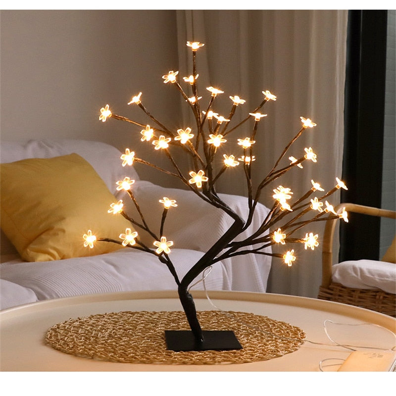 LED Indoor Lighting Table Lamp - Cherry Blossom Tree