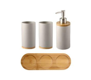 Bathroom set Ceramics Mouth cup Toothbrush holder Lotion bottle