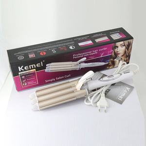 Professional Curling Iron - Triple Barrel Hair Styler