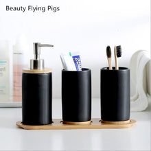 Load image into Gallery viewer, Bathroom set Ceramics Mouth cup Toothbrush holder Lotion bottle