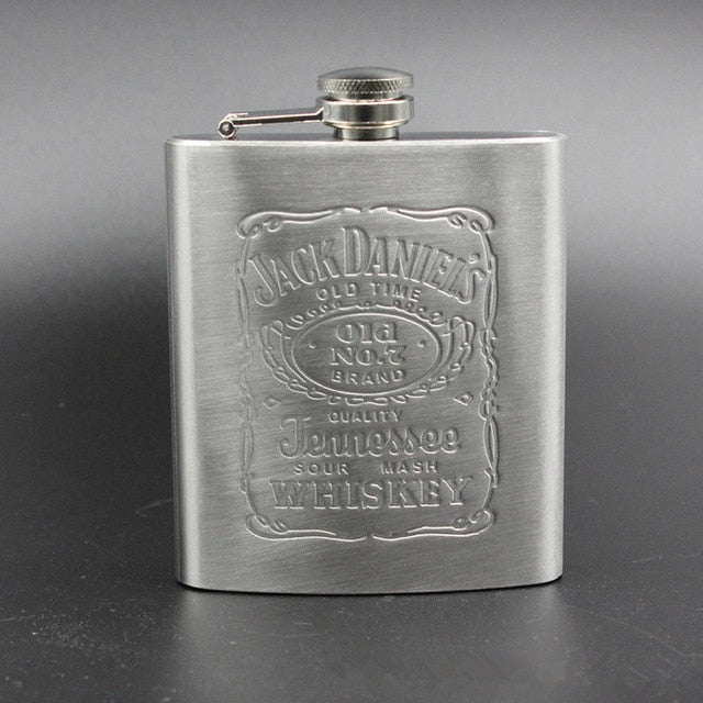 Portable Stainless Steel Hip Flask - 7oz Wine Mug, Whisky Bottle With Box