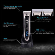 Load image into Gallery viewer, Hair Trimmer - Rechargeable Electric Hair Clipper