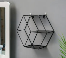 Load image into Gallery viewer, Metal Decorative Shelf round Hexagon storage holder rack Shelves Home wall Decoration Potted ornament holder rack
