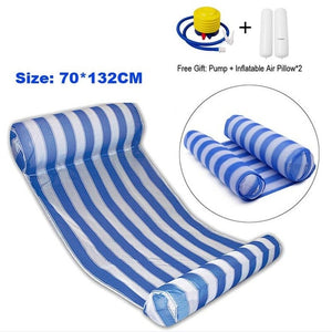Foldable Swimming Pool Inflatable Bed with Cushion