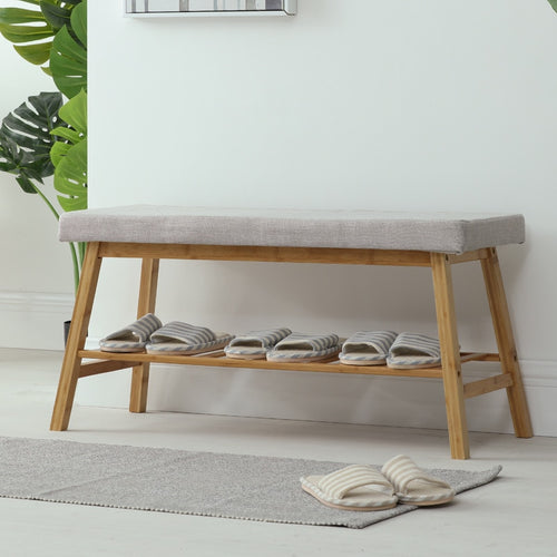 Change shoes storage long bench stool