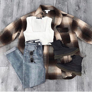 MELISSA Plaid Jacket