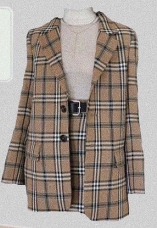 ELEANOR Plaid Blazer