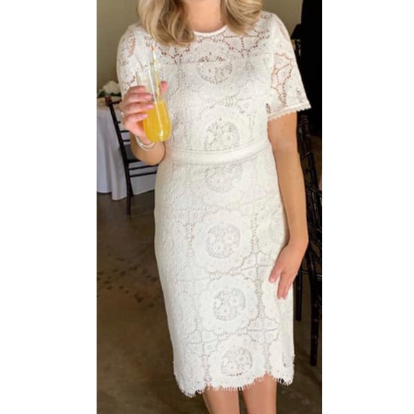 SAMANTHA Long Lace Dress