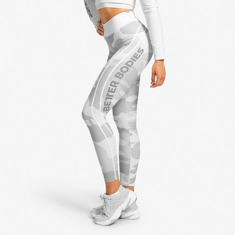 Better Bodies- White camo high tights