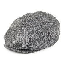 Load image into Gallery viewer, Extra Large Herringbone Newsboy Cap