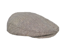 Load image into Gallery viewer, Extra Large Herringbone Flat Cap