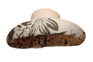 Ladies Cream Wide Brim Sun Hat