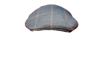 Extra Large Luxurious Grey and Camel Check Flat Cap