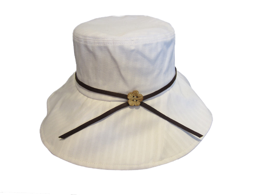 Ladies White Large Sun Hat