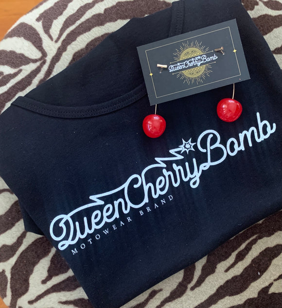 BANG POW Tee with FREE pair of Cherry Red Earrings