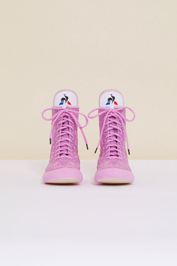 Patou - Embroidered high-top trainers - Lilac - Image 5 of 9