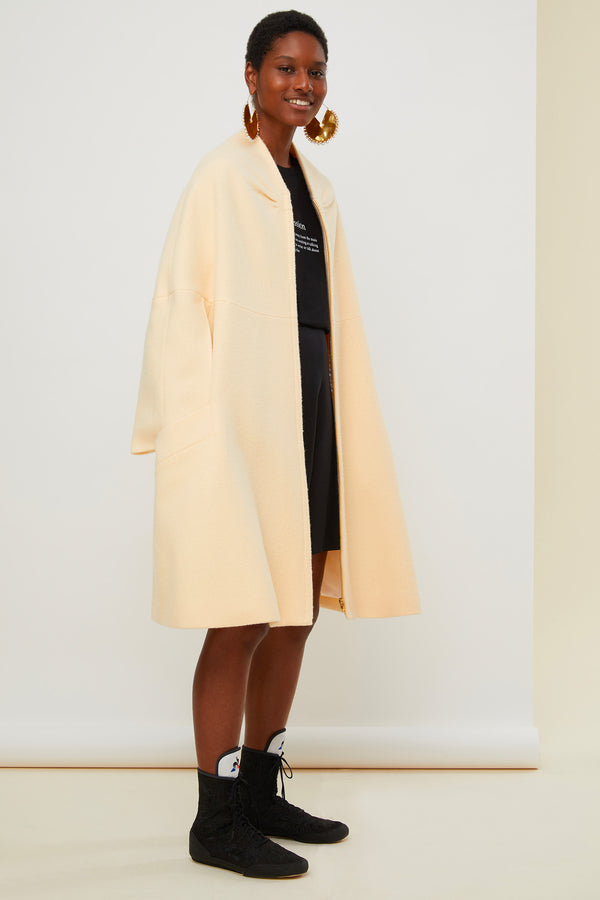 Image 3 of 6 - Oversized lambswool coat