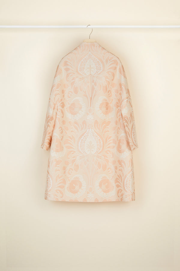 Image 4 of 5 - Oversized floral silk brocade coat