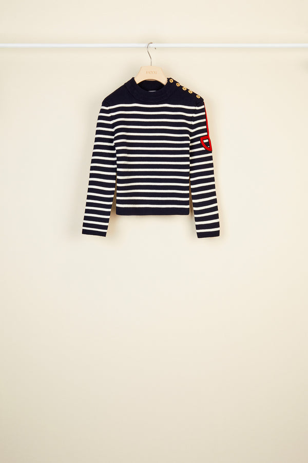 Breton jumper with embroidered logo