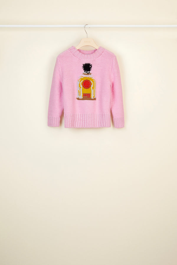 Perfume bottle wool jumper
