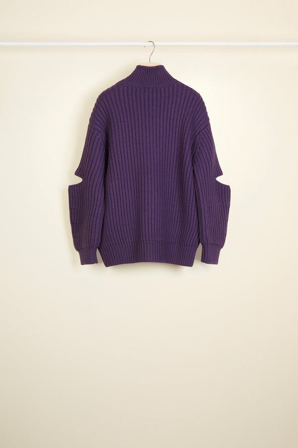 Image 3 of 3 - Cut-out Merino wool jumper