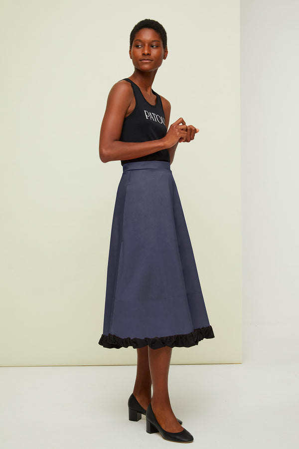 Image 1 of 4 - Printed midi skirt