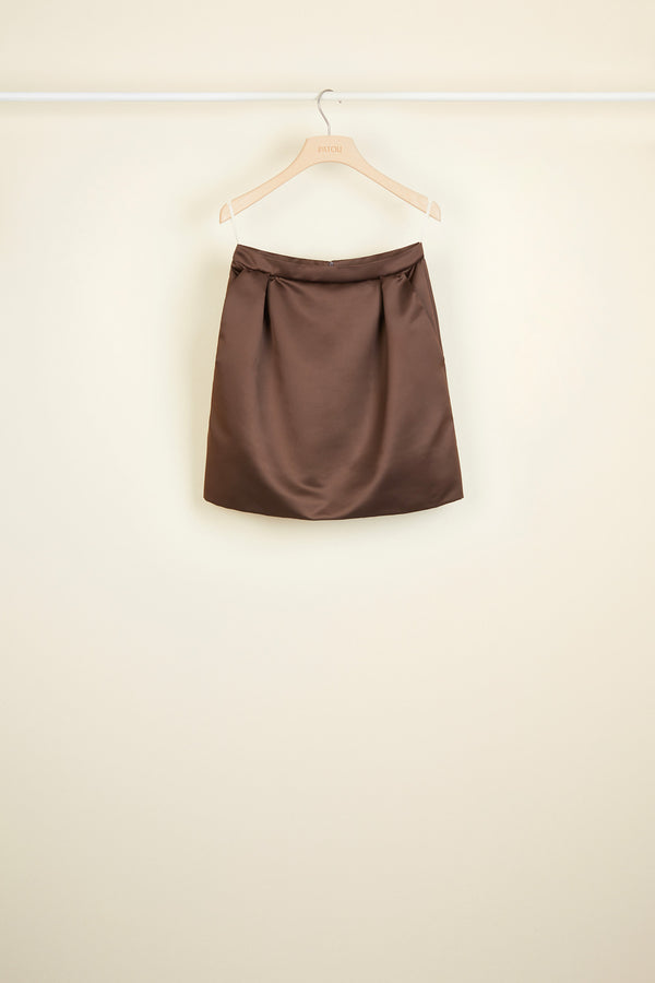 Satin tulip skirt
