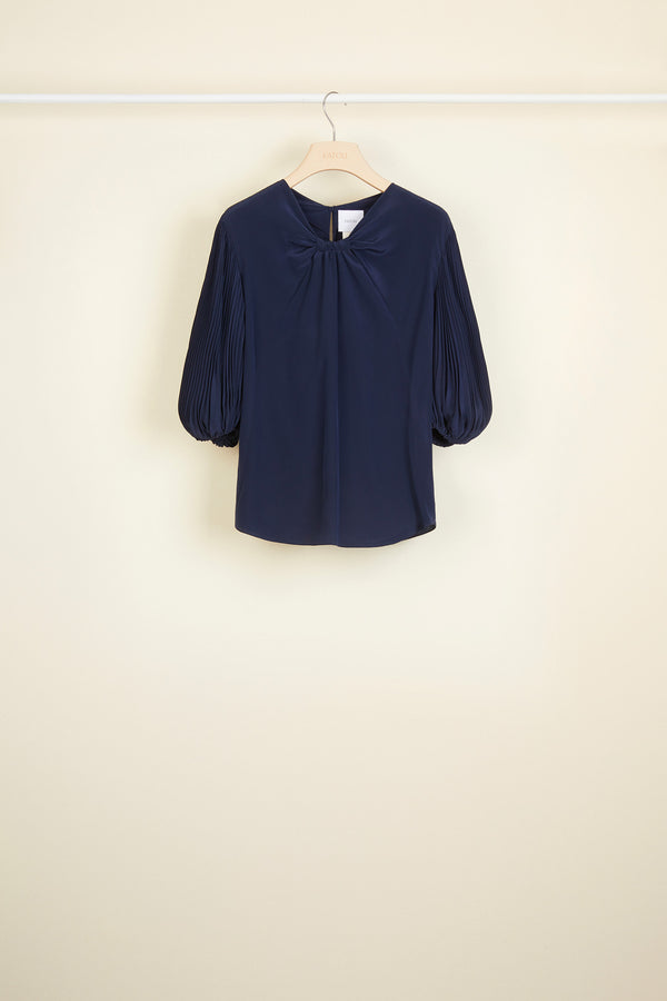 Image 2 of 3 - Cut Bow Top - Navy
