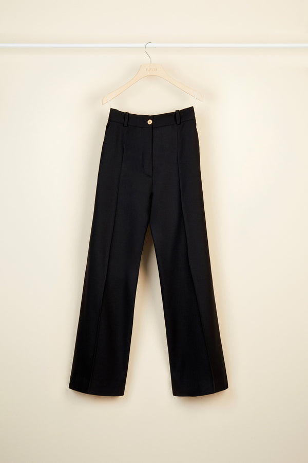 Image 4 of 5 - Virgin wool straight leg trousers