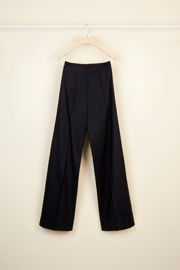 Image 5 of 5 - Virgin wool straight leg trousers