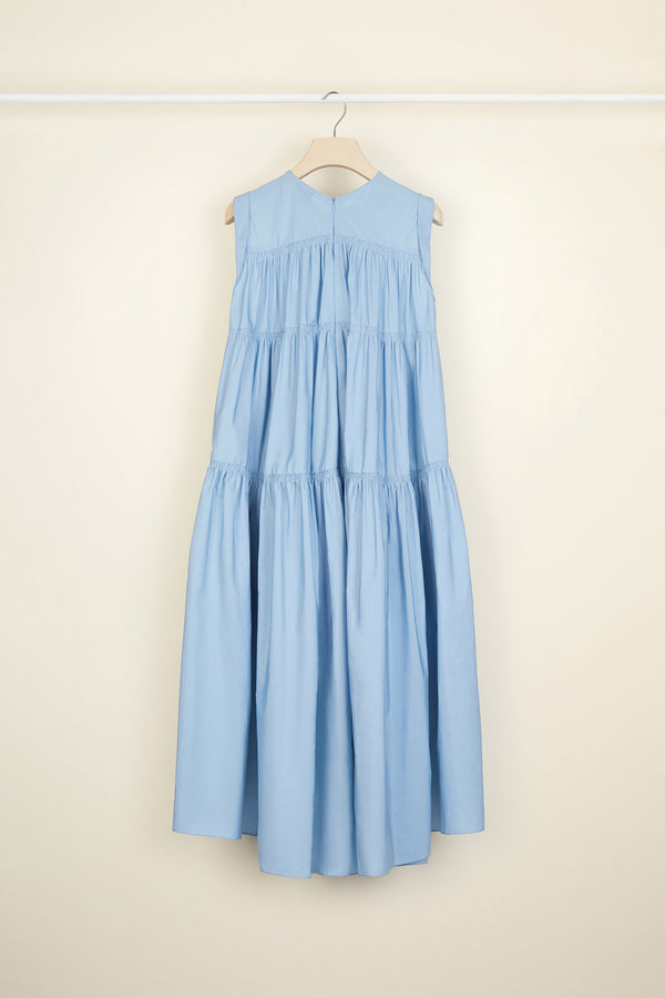 Image 4 of 5 - Tiered faille maxi dress
