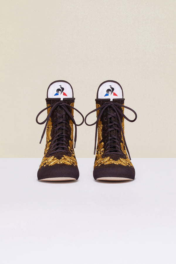 Patou - Embroidered high-top trainers - Havana - Image 4 of 8