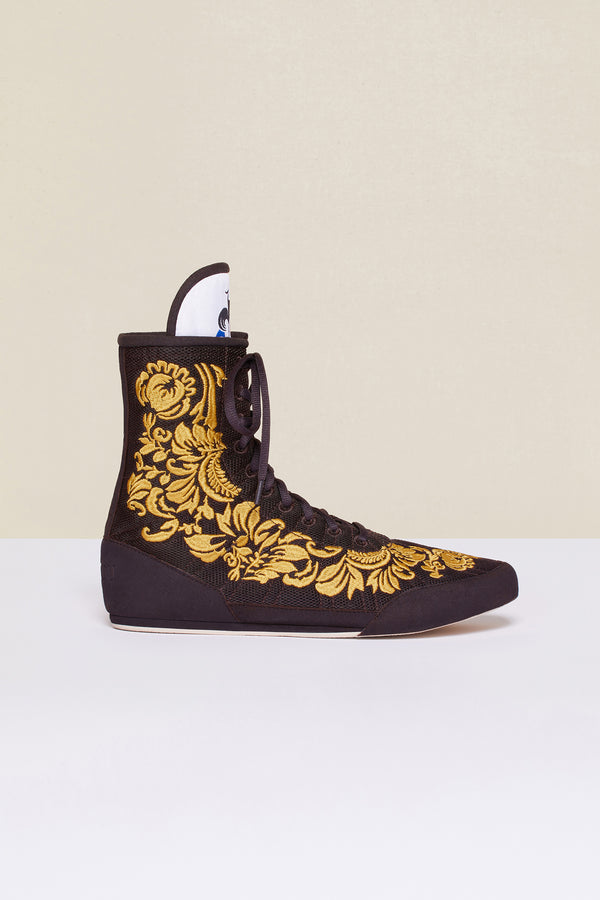Patou - Embroidered high-top trainers - Havana - Image 5 of 8
