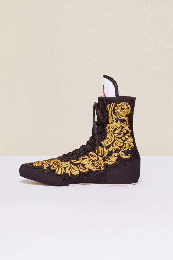 Patou - Embroidered high-top trainers - Havana - Image 7 of 8