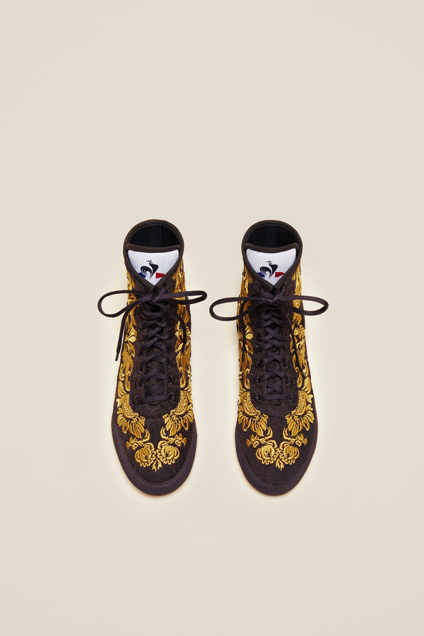 Patou - Embroidered high-top trainers - Havana - Image 8 of 8