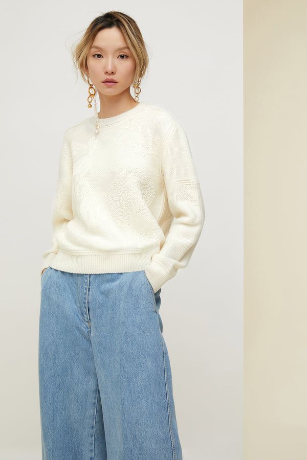 Image 1 of 4 - 3D wool jumper