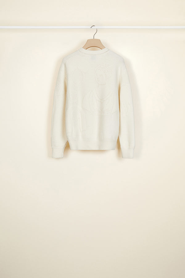 Image 3 of 4 - 3D wool jumper